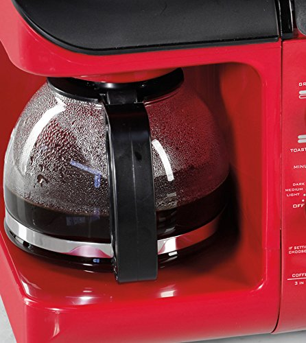 Product Image 4: Nostalgia BSET300RETRORED 3-in-1 Family Size Breakfast Station, Red