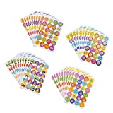 Teachers Teaching Stickers: This pack comes with a sticker roll with 1920 pieces featuring 4 different encouragement phrases with cute animal illustrations including Well Done Thumb + Very Good Animal + very good Star + Well Done Star. Great for scra...