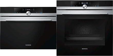 Siemens CF634AGS1 iQ700 Mikrowelle / 900 W / 36 L/TFT- Display & HB634GBS1 iQ700 Einbau Backofen/A / 71 l/Schwarz/Edelstahl / 4D Heißluft