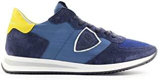Luxury Fashion | Philippe Model Men TZLUW031 Blue Suede Sneakers | Spring-summer 20