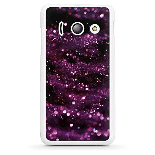DeinDesign Huawei Ascend Y300 Hülle Silikon Case Schutz Cover Glitzer Muster Lila