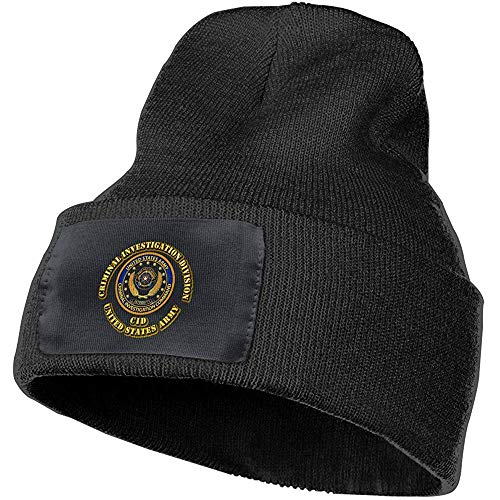 Preisvergleich Produktbild Quintion Robeson Army Criminal Investigation Division Beanie Hut Warme Kabel Strickmütze Unsexuelle Wintermütze