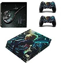 Playstation 4 Pro Skin Set – Game - HD Printing Vinyl Skin Cover Protective for PS4 Pro Console and 2 PS4 Controller by Teemeow.