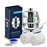 PureSpa 15 Stage Shower Filter High Output - Filters and Helps with the Removal of Chlorine,...