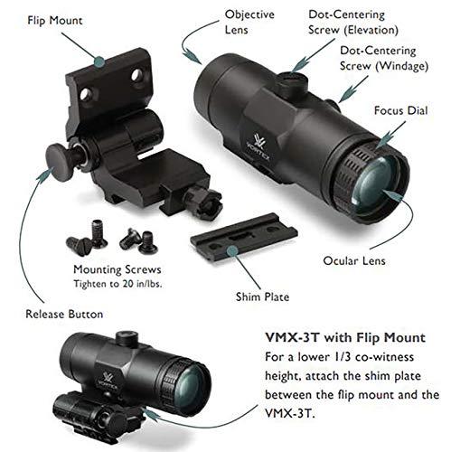 Vortex Optics VMX-3T Magnifier with Built-in Flip Mount