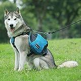 HPNESS Paquete táctico Ajustable para Perros Hound Travel Camping Senderismo Mochila Alforja Mochila para Perros medianos y Grandes
