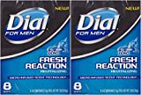 Dial for Men Fresh Reaction, Sub Zero Glycerin Bar Soap, 4 Oz Bars, 8 Ct. (2 pack)
