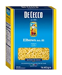 Delicious elbow pasta perfect for light and simple sauces Good source of protein, thiamin, folic acid, iron, riboflavin, and niacin No GMO, no trans fat, no saturated fat, no sugar added Kosher Made in Italy