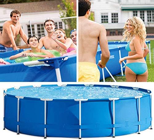 JWCN Summer Family Swimmingpool für Wasserparty Tragbarer Gartenpool mit Pump-Paddelpool Privater Pool für Erwachsene - 366 x 76 cm Uptodate
