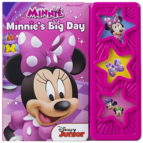 Disney - Minnie's Big Day 3-Button Star Sound Book - Play-a-Sound - PI Kids