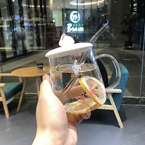 Dehr Keramiktasse Kaffee Hitzebeständige Tasse Mit Löffel Deckel Drink Kinder Geschenk