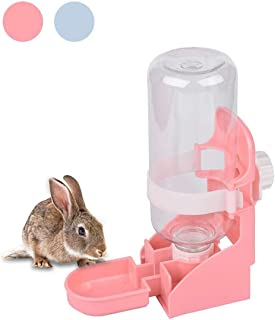 kathson Rabbit Water Bottle, 17oz Hanging Water Fountain Automatic Dispenser No Leak WaterFeeder for Bunny Chinchilla Guinea Pig Hedgehog Ferret