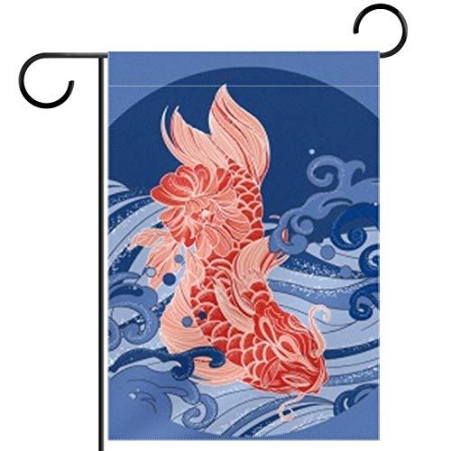 SLTshangdian Bandera de jardín de temporada de doble cara para jugar en la carpa, para primavera, verano, patio, decoración al aire libre, resistente a la intemperie, 71 x 101 cm
