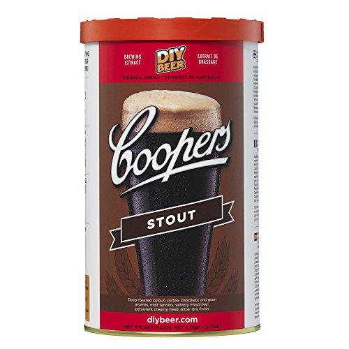 COOPERS Stout 40 Gläser 1.7kg Selbst Gebrautes Bier Set