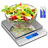 [Latest 2020] Food Scale Digital Kitchen Scale Weight Grams and oz for Cooking Baking, 1g/0.1oz Precise Graduation, Coffee Scales Grams Mutritional Calculator, Stainless Steel and Tempered Glass