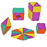 Geometiles 3D Building Set for Learning Math, Includes Many Online Activities,32-pc, Made in USA (Triangle/Rectangle/Square)