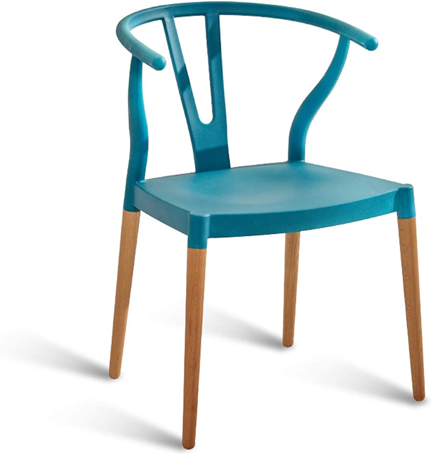 LRW Modern Minimalist Chairs, Home Study Chairs, Dining Chairs, Leisure Backrest Chairs, bluee