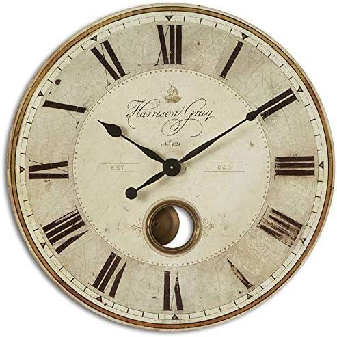 popular Uttermost lowest Harrison Gray popular 30-Inch Wall Clock outlet sale