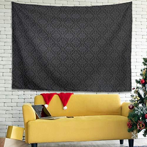 Ballbollbll Tapiz de azulejos de flores abstractas personalizado para colgar en la sala de estar sofá cubre pared Tapiz blanco 79 x 59 pulgadas