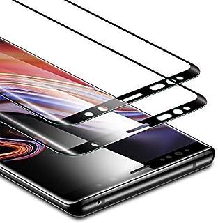 ESR - Protector de pantalla para Samsung Galaxy Note 9 (2 unidades, cristal templado, resistente a la fuerza hasta 11 libras), cobertura completa de la pantalla, compatible con Samsung Note 9