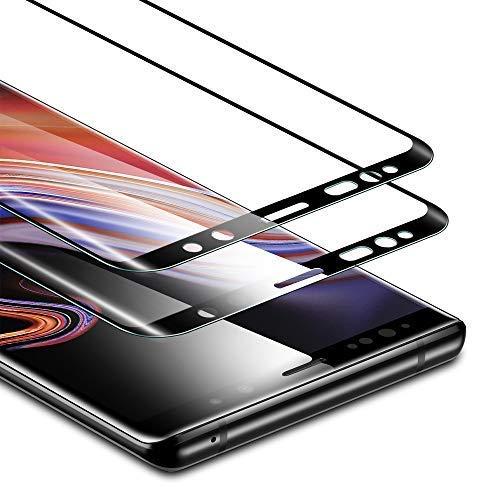 ESR Displayschutzfolie für Samsung Galaxy Note 9, 2 Stück, gehärtetes Glas, kraftbeständig bis zu 11 kg, volle Bildschirmabdeckung, für Samsung Note 9 (veröffentlicht im Jahr 2018)