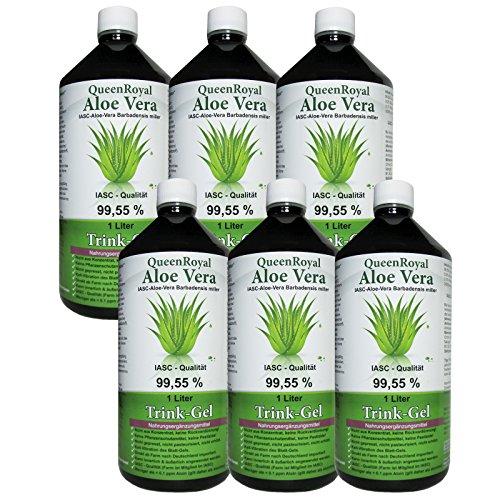 QueenRoyal Aloe Vera Trink Gel 99.55% pur 6 Liter Sparpack. 30254 G