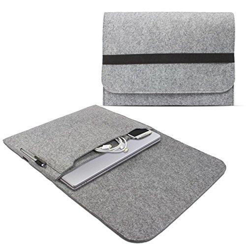 eFabrik Sleeve Hülle für Sony Vaio PRO 13,3 Zoll (33,8cm) Schutz Hülle Ultrabook Laptop Hülle Soft Cover Schutzhülle Filz hell grau