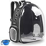 beikott cat backpack carriers, pet bubble backpack carriers for cats puppy dogs and birds,