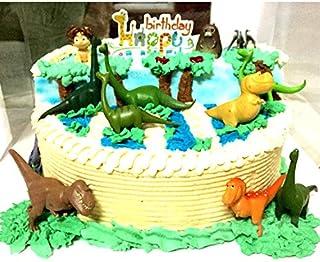12Pcs Dinosaur Doll Cake Decoration Cake Topper Action Figures