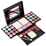 Eyeshadow Palette Makeup Palette 35 Bright Colors Matte and Shimmer Lip Gloss Blush Brushes