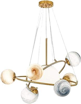 Modern Gold Pendant Light Glass Chandelier with 7 Lights