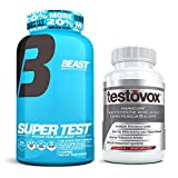 Beast Sports Nutrition Super Test 216 ct Bundle with Testovox 60 ct - High Performance Muscle Building