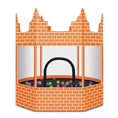 Mini Trampolino da Giardino Castello dei Bambini Domestico Trampolino per Bambini con Sicurezza Net Enclosure Junior Rimbalzo Fitness Allenatore di Esercizi aerobici Primavera Sistema 6 Poli