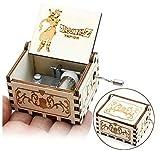 Cuzit Boîte à musique style antique en bois avec manivelle Thème Dragon Ball