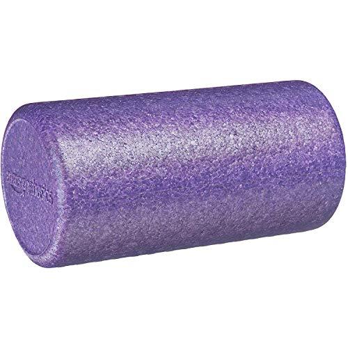 Amazon Basics - Rodillo redondo de ejercicio/terapia, de espuma de alta densidad, 30,48 cm, morado