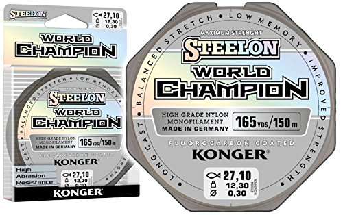 Konger Angelschnur World Champion Fluorocarbon Coated 0,10-0,30mm/150m Monofile Schnur super stark ! (0,20mm / 6,10kg)