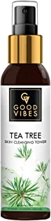 Good Vibes Tea Tree Skin Cleansing Toner 120 ml, Hydrating Light Weight Anti Acne Moisturizing Face Toner for All Skin Typ...