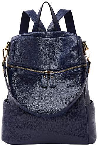 BOYATU Genuine Leather Backpack Purse Womens Fashion Casual Purse School Bag