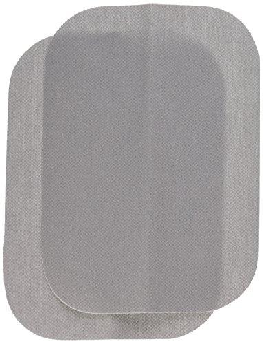 Wrights BDX230-008.45 Bondex Iron-On Patches 5 X7  2/Pkg-Light Grey