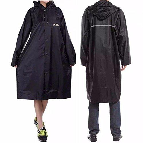 Bazaar volwassen outdoor regenjas lange poncho kap dikker reflecterende soorten ontwerp werk reizen regenkleding