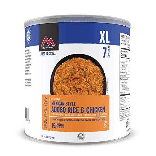Mountain House Mexican Style Adobo Rice & Chicken | Freeze Dried Backpacking & Camping Food | Gluten-Free 3