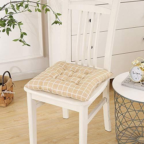 Cojín estampado para sillas, cojín de asiento, diseño floral, pequeño, cuadrado, para muebles de jardín, sofá Dobby, color amarillo, especificación: 40 x 40 cm