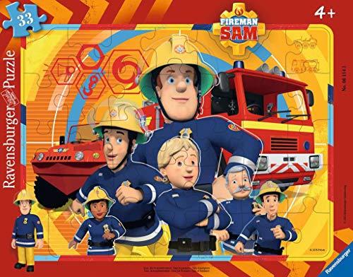 Ravensburger Kinderpuzzle 06114 - Sam, der Feuerwehrmann - Rahmenpuzzle