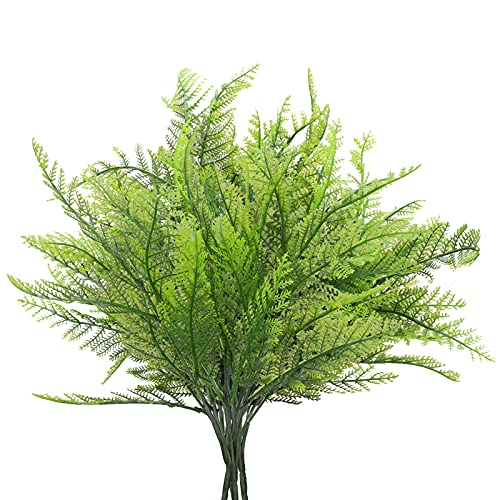 DWANCE 4PCS Falsa de Helecho Plantas Artificial Arbusto Verde Decorativas Artificiales Planta Exterior Interior para Salón, Jardín, Boda, Oficina