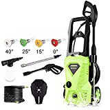 Tagorine Electric Pressure Washer, Power Washer with 2500 PSI,1.5GPM, (4) Nozzle Adapter, Longer Cables and Hoses and Detergent Tank,for Cleaning Cars, Houses Driveways, Patios,and More