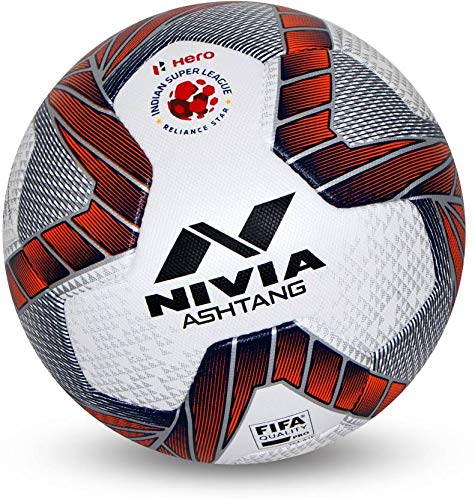 Nivia Ashtang PU Football ( Size: 5, Color : Multicolour, Ideal for : Training/Match )