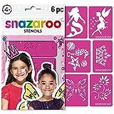 Snazaroo - Set de 6 plantillas de pintura facial, fantasía , color/modelo surtido
