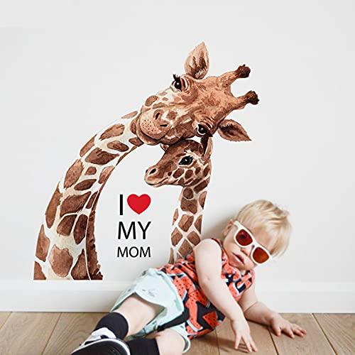 Habitación de los niños Diy decoración del hogar dormitorio lindo animal arte cartel vinilo extraíble calcomanía