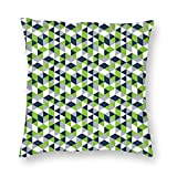 antkondnm Sweetiep Geometric Seahawk Polyester Throw Pillow Case, Decorative Square Cushion Cover