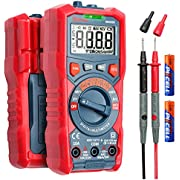 AstroAI Digital Multimeter, TRMS 4000 Counts Auto-Ranging Ohmmeter Voltmeter 1.5v/9v/12v Battery Voltage Tester Measure Voltage Current Resistance Diodes Continuity Voltmeter with NCV Function